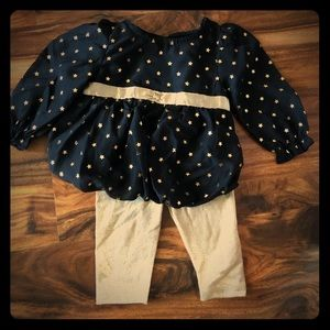 Gold/black infant outfit